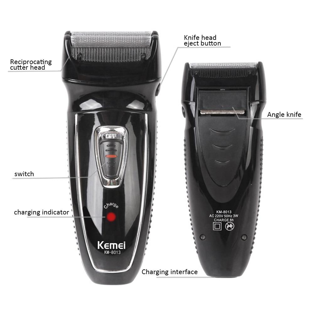 Kemei barbeador elétrico rotativo, máquina de barbear