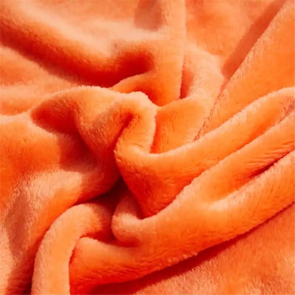 لينة الدافئة المرجان الصوف الفانيلا البطانيات للأسرة فو الفراء المنك رمي بلون غطاء أريكة المفرش الشتاء منقوشة البطانيات 2020
