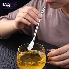 Filtre de paille à boire en acier inoxydable, créatif, fait à la main, Yerba Mate Tea Bombilla gourde, lavable, pratique