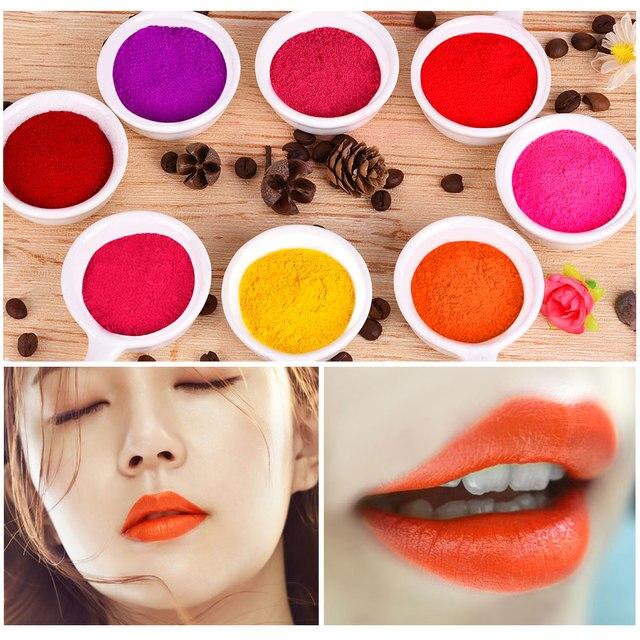8 цветов блеск для губ «сделай сам» порошок материал глазурь фотография