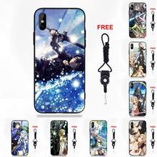 Sword Art Online Asuna X Kirito Sao For Galaxy S8 S9 Plus For Redmi 5 Note 5A 6 Huawei Honor 7X P20 Lite Mate 10 Pro(China)