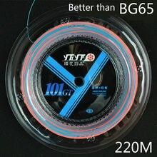 220m longthen melhor do que bg65 profissional badminton corda yh101gt 0.67mm alta elasticidade raquete net grande rolo l2097spc