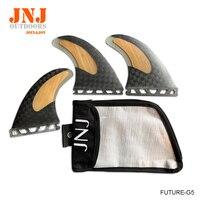 JNJ Абсолютно Новая высококачественная углеродная бамбуковая доски для серфинга плавники (доска для серфинга) стол FUTURE G5 M плавники