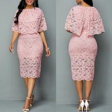 MD African Lace Dresses For Women Fashion New Africa Sexy Wedding Outfit 4XL 5XL Plus Size Maxi Dress Dashiki Ankara Pink Robe