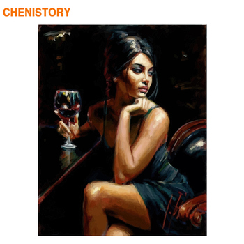 CHENISTORY Women Frame Diy Painting By Numbers Kit Figure Picture By Numbers Acrylic Paint By Numbers For Home Decoration Gift