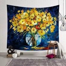 Европа Ins подвесной тканевый гобелен Цветы Солнце Луна Печатный настенный гобелен пляжный костюм полотенце домашний декоративный коврик для йоги одеяло