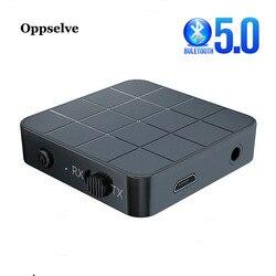 2 en 1 receptor de Audio Bluetooth 5,0 transmisor para PC TV de los altavoces del coche de 3,5mm AUX Jack estéreo USB adaptador inalámbrico para auriculares