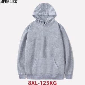Image 3 - סתיו גברים נשים ספורטוויר נים מכירה גדולה חולצות צמר סלעית hoody גדול גודל 8XL כותנה loose oversize מעיל ורוד כחול