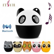 Cute Mini Animal Bluetooth Speaker:Wireless Portable Speakers Cartoon Music Player Stero Subwoofer Speakers with Mic A1911-19(China)