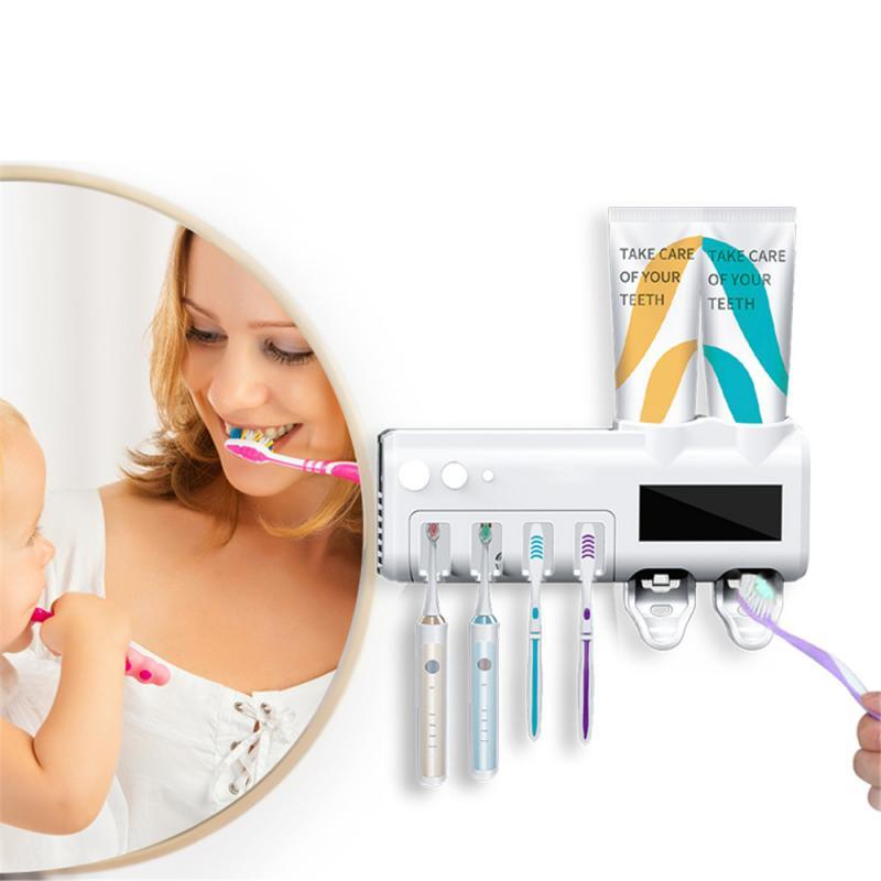 Умная ультрафиолетосветильник зубная щетка 2 в 1, стерилизатор, автоматический держатель для детской зубной щетки, домашняя Прямая поставка
