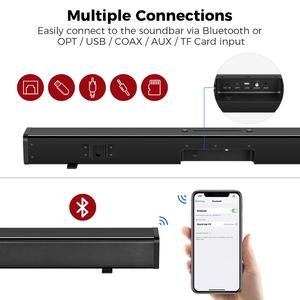 Image 4 - Sound Bar for TV, 32 Inch Soundbar Wired & Wireless Bluetooth 5.0 Speaker, 3D Surround Sound Home Theatre System, Wall Mountable