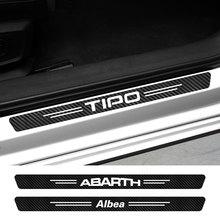 Наклейки на пороги автомобиля Fiat 124SPIDER ABARTH ALBEA CRONOS DOBLO DUCATO MOBI SEDICI STILO TIPO TORO UNO, 4 шт., автомобильные аксессуары