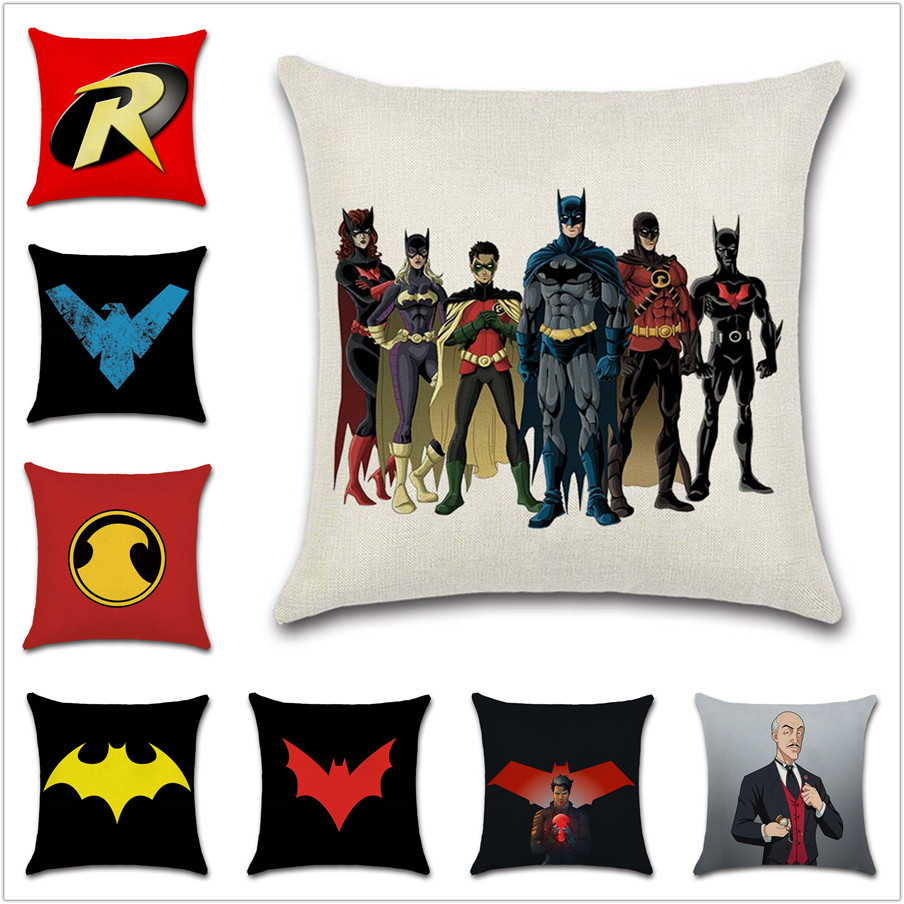 Incredible Us 4 09 24 Off Dark Knight Batman Family Logo Cushion Cover Decor Chair Sofa Seat Car Decorative Pillowcase Home House Bedroom Friend Kids T In Machost Co Dining Chair Design Ideas Machostcouk