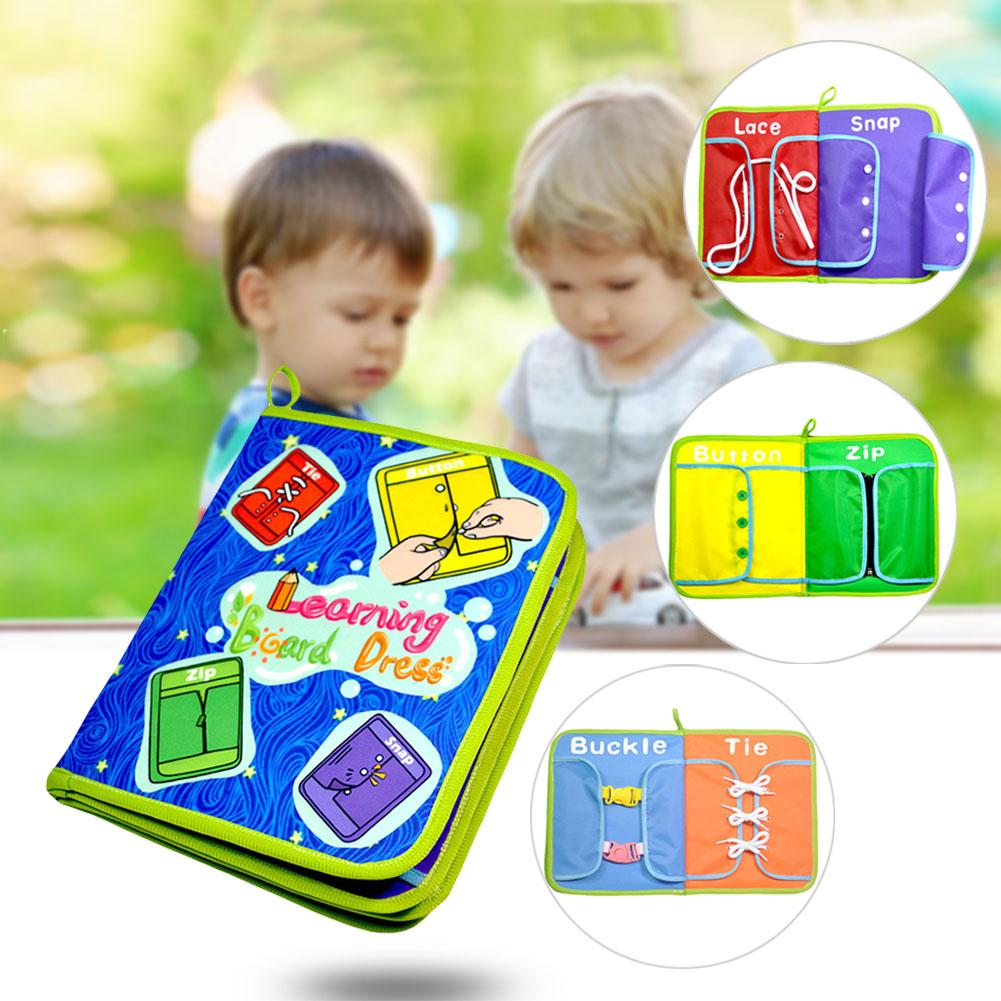 Baby Dress Teaching Board Cloth Book Educational Book Toys For Zip/Snap/Button/Buckle/Lace/Tie Early Learning Toy For Child