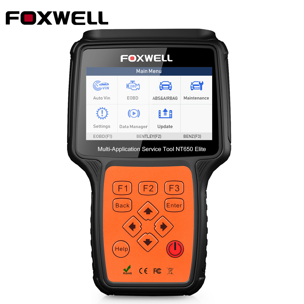 Foxwel NT650 Elite OBD2 Code Reader Scanner Engine ABS Airbag EPB Oil TPMS 13 Reset OBD 2 Diagnostic Tool OBD Automotive Scanner-in Engine Analyzer from Automobiles & Motorcycles on