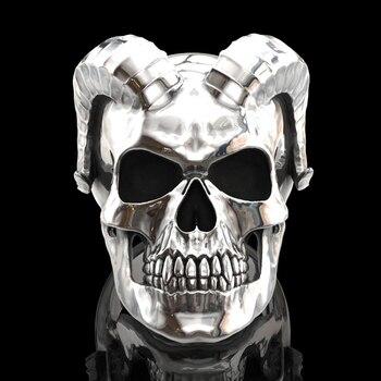 Nuevo Punk gótico hombres anillo de alta polaco de Diablo, Satán de cuerno de cabra, anillo de calavera para hombre de Heavy Metal de joyería