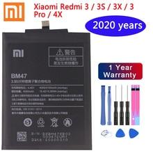 Оригинальная запасная батарея BM47 4000 мАч для XIAOMI Redmi 4X Redmi 3 батарея Redmi 3 3 Pro 3X 4X Pro 4X натуральная батарея для телефона