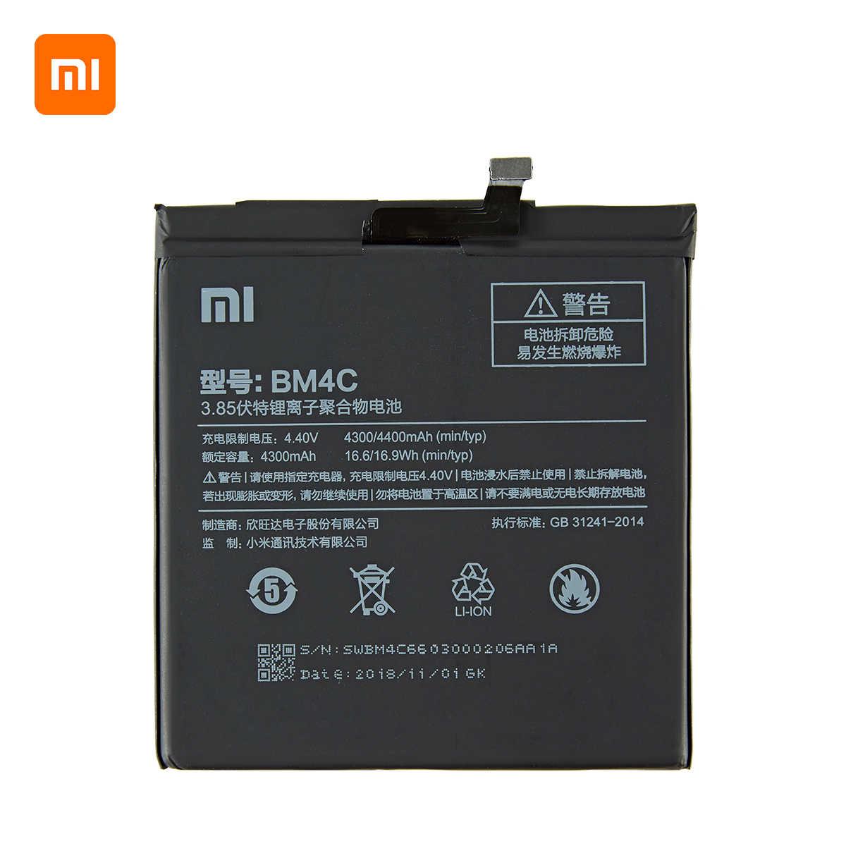 Xiao mi 100% orginal BM4C 4400 mah batterie Für Xiaomi Mi Mix BM4C HOHE Qualität Telefon Ersatz Batterien