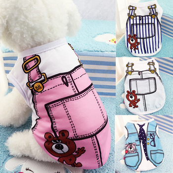 T Shirt Dog Coat Jacket For Small Dogs Clothing Summer Cute Cheap Clothes Chihuahua Pet Cat Costumes