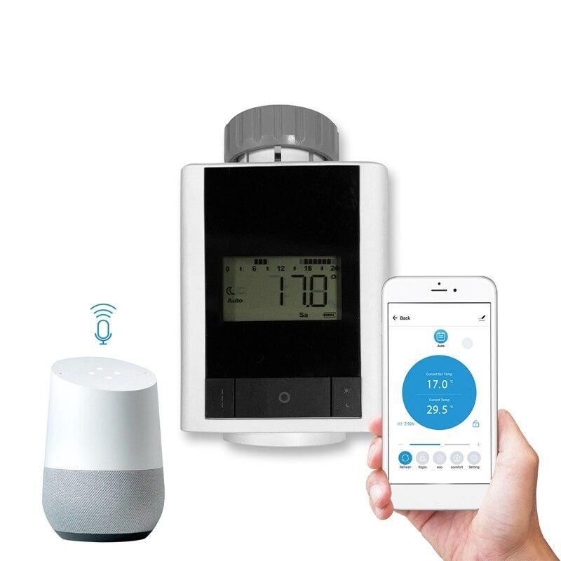 Bluetooth Temperature Controller Radiator Thermostat TRV for Tuya Smart Control Smart Home Voice Control Via Alexa