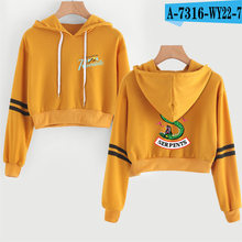 Hot Fashion Print Riverdale Hoodie Female Harajuku Hoodies crop top shirt long sleeve Hoodies Sweatshirts Sexy clothing(China)