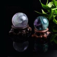 Boule de cristal de quartz, 1 pièce, pierres précieuses naturelles, décoration de la maison, minéraux de guérison bruts, wicca, pierres lisses, bricolage, cadeau