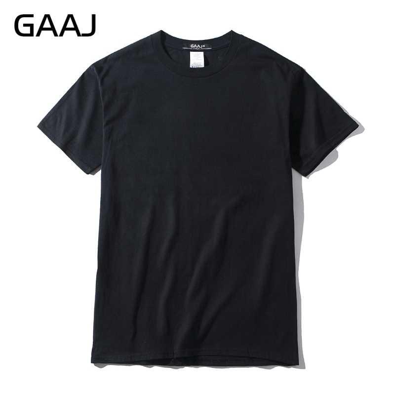 جديد GAAJ تي شيرت الرجال 100 القطن 3 قطع الأساسية فارغة التي شيرت Harajuku لباس أبيض الصيف الشارع الشهير المتضخم تي شيرت 2XL 3XL