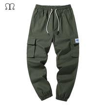 Kargo pantolon erkekler marka Joggers çalışma nefes erkek pantolon rahat ordu yeşil haki siyah bahar askeri taktik pantolon erkek 4XL