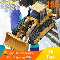 1:16 Rc Bulldozer Bagger Spielzeug Rc Engineering Fahrzeug Dump Kipper Legierung und Kunststoff Bagger Rtr Spielzeug für Kinder Geburtstag Geschenk