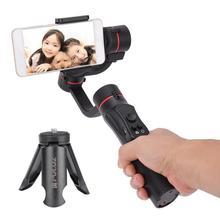 Estabilizador handheld do smartphone da anti agitação do estabilizador do telemóvel vlog do estabilizador do cardan de 3 eixos para a câmera da ação do telefone celular de 55 90mm