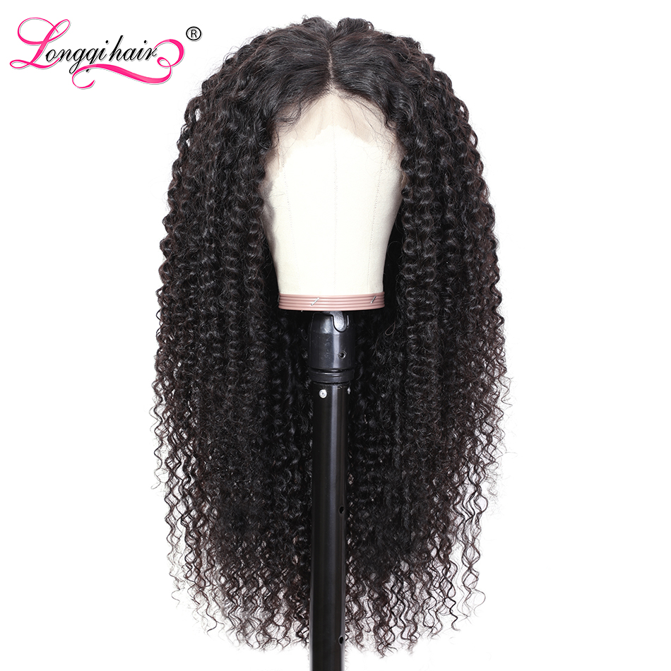 Longqi Hair Brazilian Curly Human Hair Wig 13x6 Lace Front Wig Human Hair Natural Remy Preplucked Lace Wigs For Women