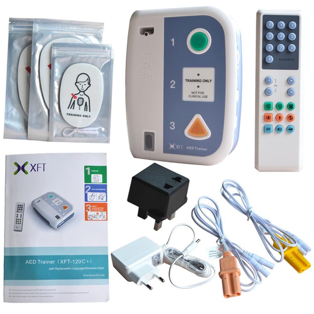 XFT 120C + Erste Hilfe Gerät AED Trainer Automatisierten Externe Defibrillator Notfall CPR Ausbildung Lehre Mehrere Sprache Wählen-in Schlankheitsmittel aus Haar & Kosmetik bei AliExpress - 11.11_Doppel-11Tag der Singles 1