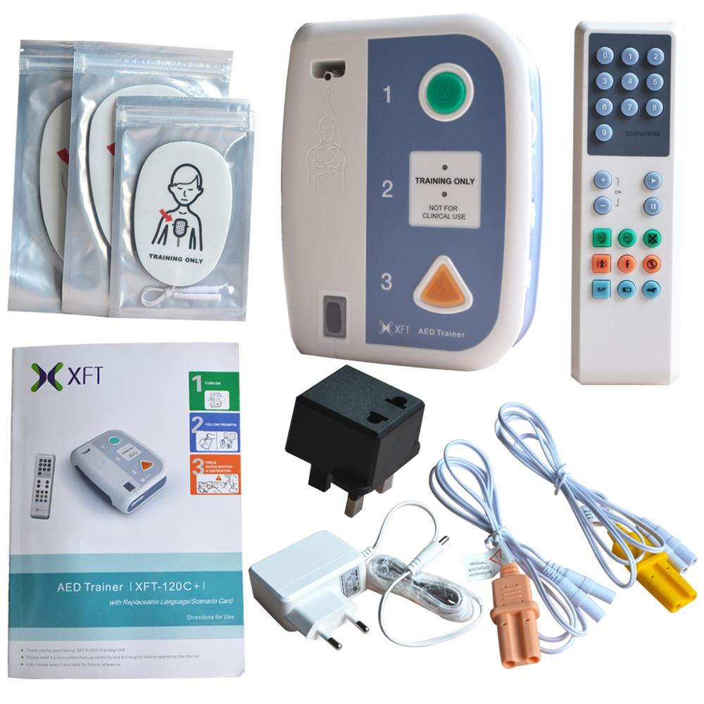 XFT-120C+ First Aid Device AED Trainer Automated External Defibrillator Emergency CPR Training Teaching Several Language Choose