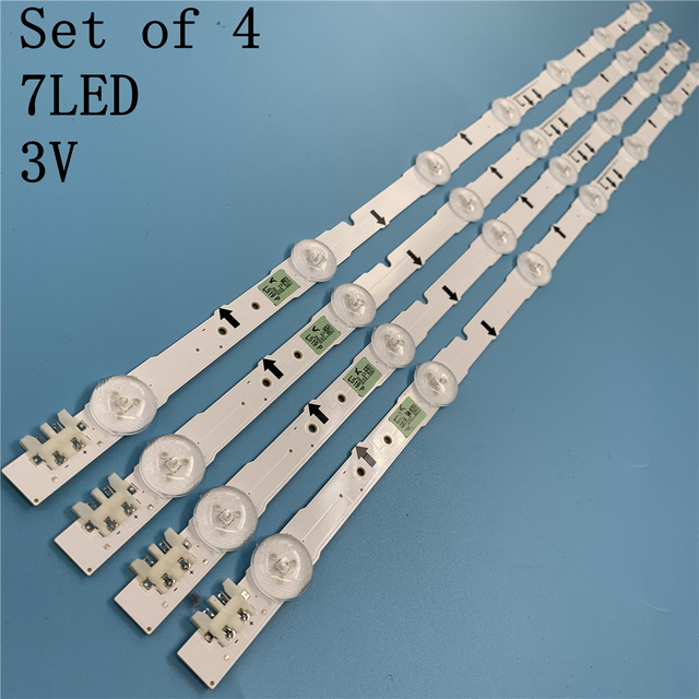 (New kit)4 Pieces/set 7LED 647mm LED strip for samsung ue32j5500ak D4GE 320DC1 R2 D4GE 320DC1 R1 BN96 30443A 30442A 2014SVS32FHD