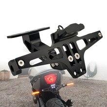 Suporte da montagem da placa de licença da motocicleta traseira e lâmpada de sinal para yamaha tmax 500 tmax500 t max 500 tmax 530 2001-2020 acessórios