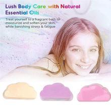 2020 Natural Skin Care Cloud Rainbow Bath Salt Exfoliating Bombs Ball Bath Supplies Bath Essential Bubble Moisturizing Z7Z6
