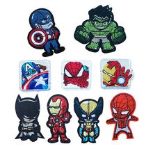 New Cartoon Movie Patches Iron On Animals Iron Man Appliques Moive Star Iron On Batman Embroidery Badge Clothing Accessory(China)