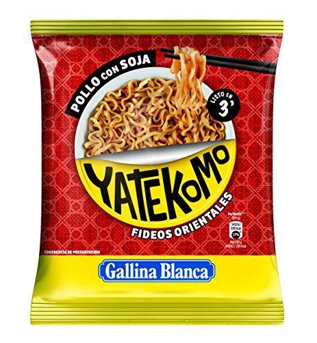 Gallina Blanca Yatekomo - Pollo Con Soja, Fideo Orientales, 79 G