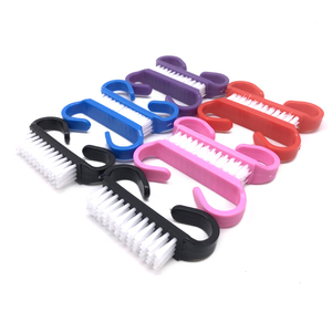Image 3 - Hot 100pc Colorful Nail Art Dust Clean Brush Plastic Manicure Soft Remove Dust Small Angle Nail Brushes Pedicure Tool Wholesales