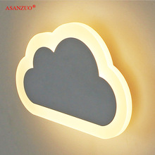 Sconce Lamp Bedroom Decor Acrylic Iron-Minimalist Living-Room Clouds Modern Kids' Children's