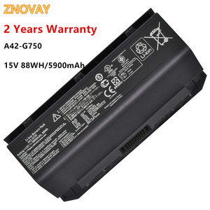 A42-G750 Laptop Battery for ASUS ROG G750 G750J G750JH G750JM G750JS G750JW Notebook Battery 15V 5900mAh/88WH A42-G750