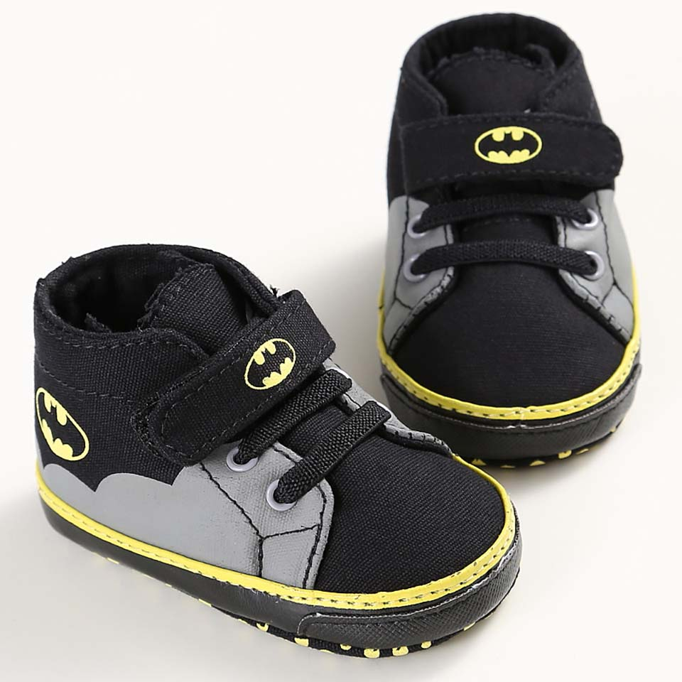 2019 New Cartoon Batman Superman Baby Boys Fashion Sneakers Soft Sole Infant Bebe Toddler Shoes First Walkers Baby Shoes 0-18M