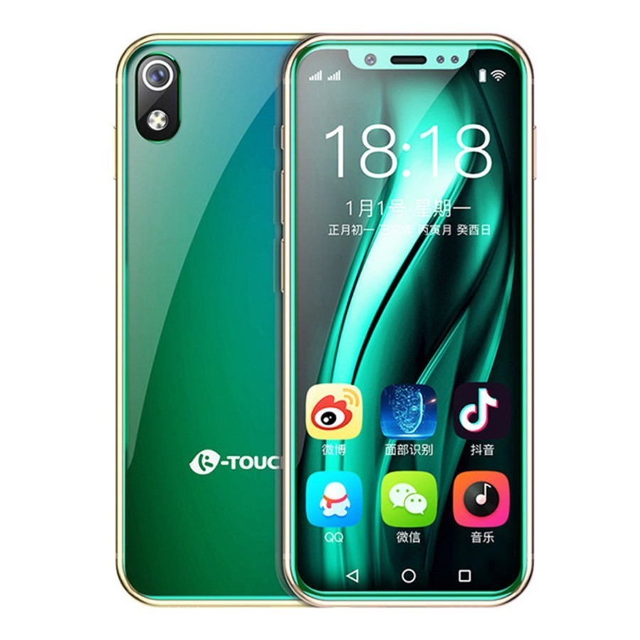 I9 pequeño teléfono inteligente 4G LTE 3,5 Mtk6739 Quad Core Android 8,1 2GB de RAM + 16GM/32GB Rom 8.0MP de Bolsillo GPS Mini teléfono Android