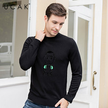 UCAK Brand 2019 Fashion Trend Winter Warm Sweaters Men Pull Homme Pure Merino Wool Cashmere Casual Pullover Sweater Male U3091