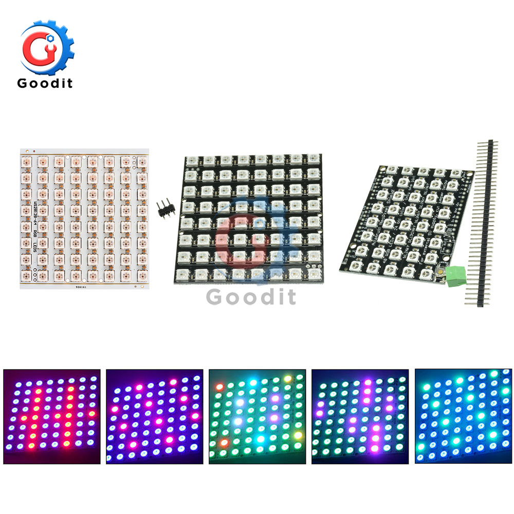 WS2812B WS2812 LED Ring Lamp Panel Light 5050 RGB 8x5 / 8x8 Bit LED Matrix 40 Bits 64 Bits Full Color 5050 RGB LED Lights