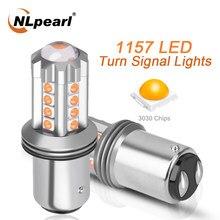 NLpeal 1x сигнальные лампы 1157 светодиодный Bay15d P21/5 Вт автомобильный тормоз резервного копирования светильник 12V 3030SMD 1156 BA15S P21W BAU15S PY21W лампы сигна...