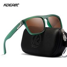 KDEAM 30 Colors Available Top Square Men's Sunglasses Polari