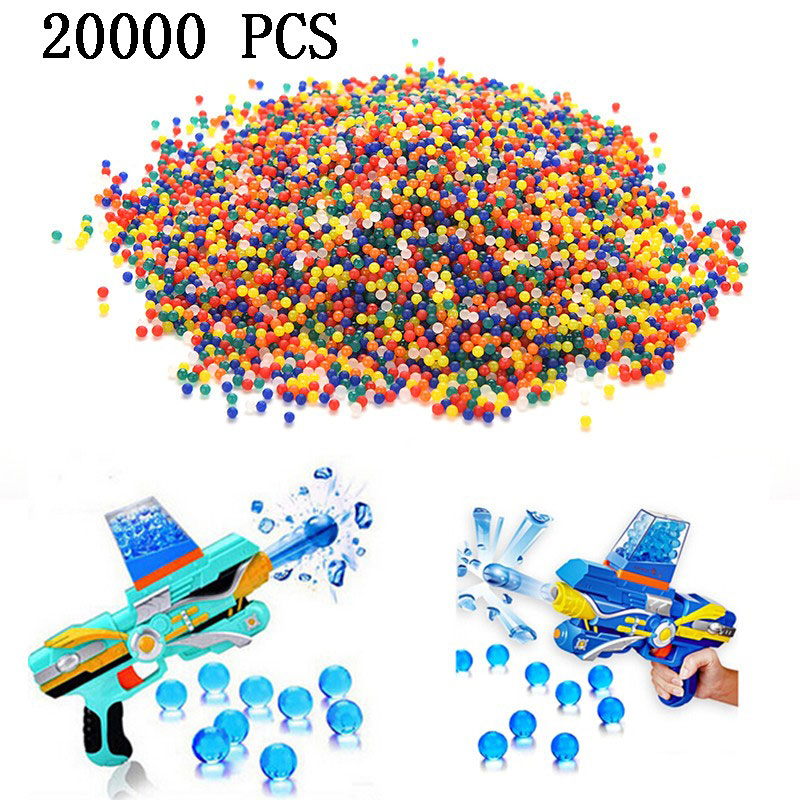 20000 PCS Colorful Soft Crystal Water Paintball Bullet Gun Toy Bibulous Air Dart Bullet Gun Accessories
