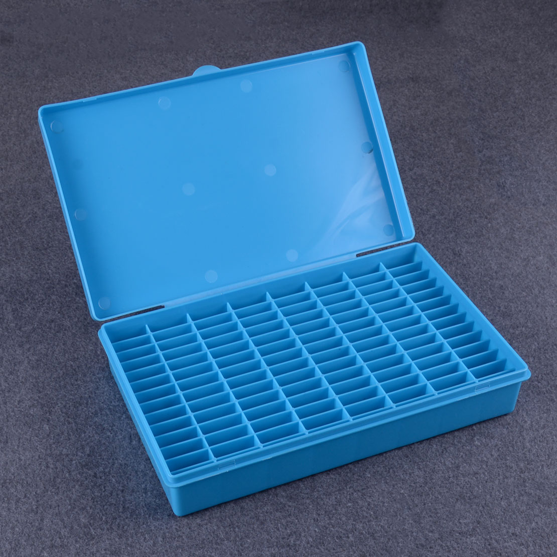LETAOSK Blue Sturdy Plastic Blank Key Storage Box Key Embryos Box Case 112 Grids Spaces Locksmith Supply