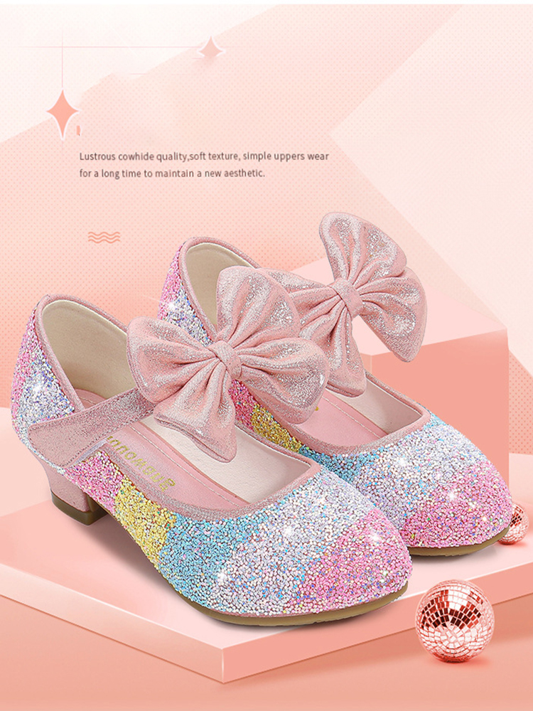 Shoes Round-Toe High-Heel Girls Princess Soft-Sole